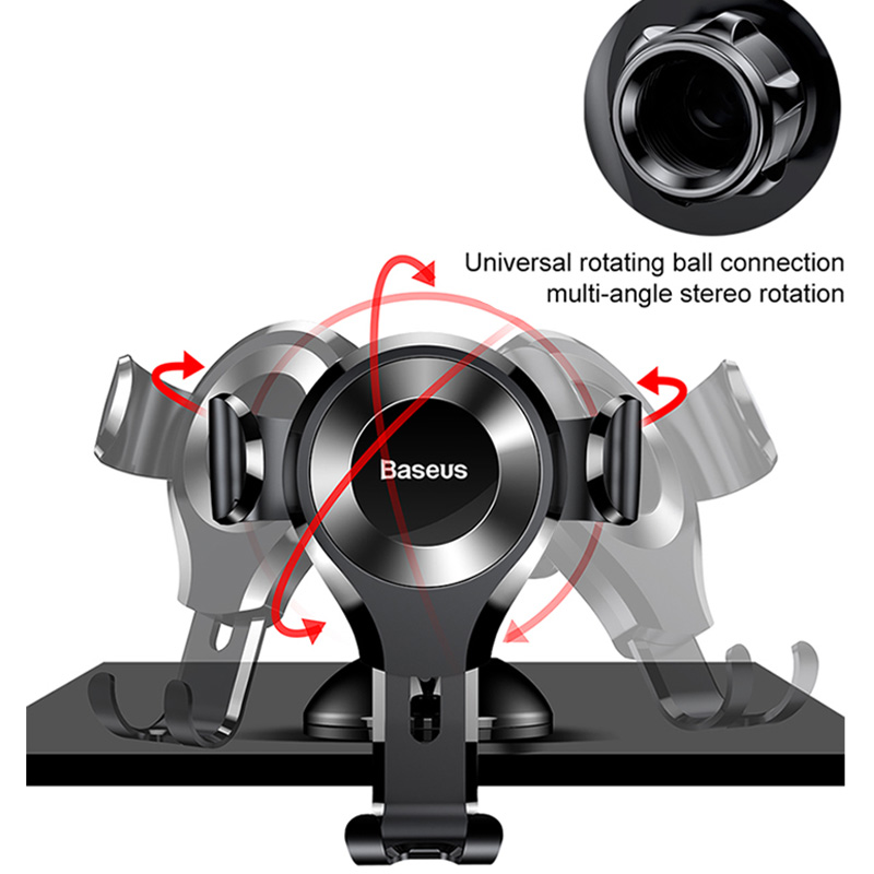 Baseus Gravity Car Phone Holder Support Sucker Strong Suction Cup For Xiaomi Samsung Mobilephon Car Mount Auto Phone Stand 3