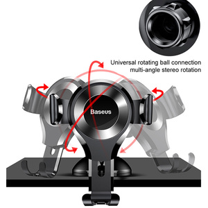 Image 4 - Baseus Gravity Car Phone Holder Support Sucker Strong Suction Cup For Xiaomi Samsung Mobilephon Car Mount Auto Phone Stand
