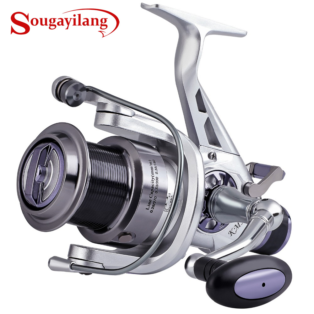 Sougayilang 11+1BB Carp Fishing Reel Coil Wheel Spinning Fishing Reel 5.2:1 High Speed Fishing Reel Pesca
