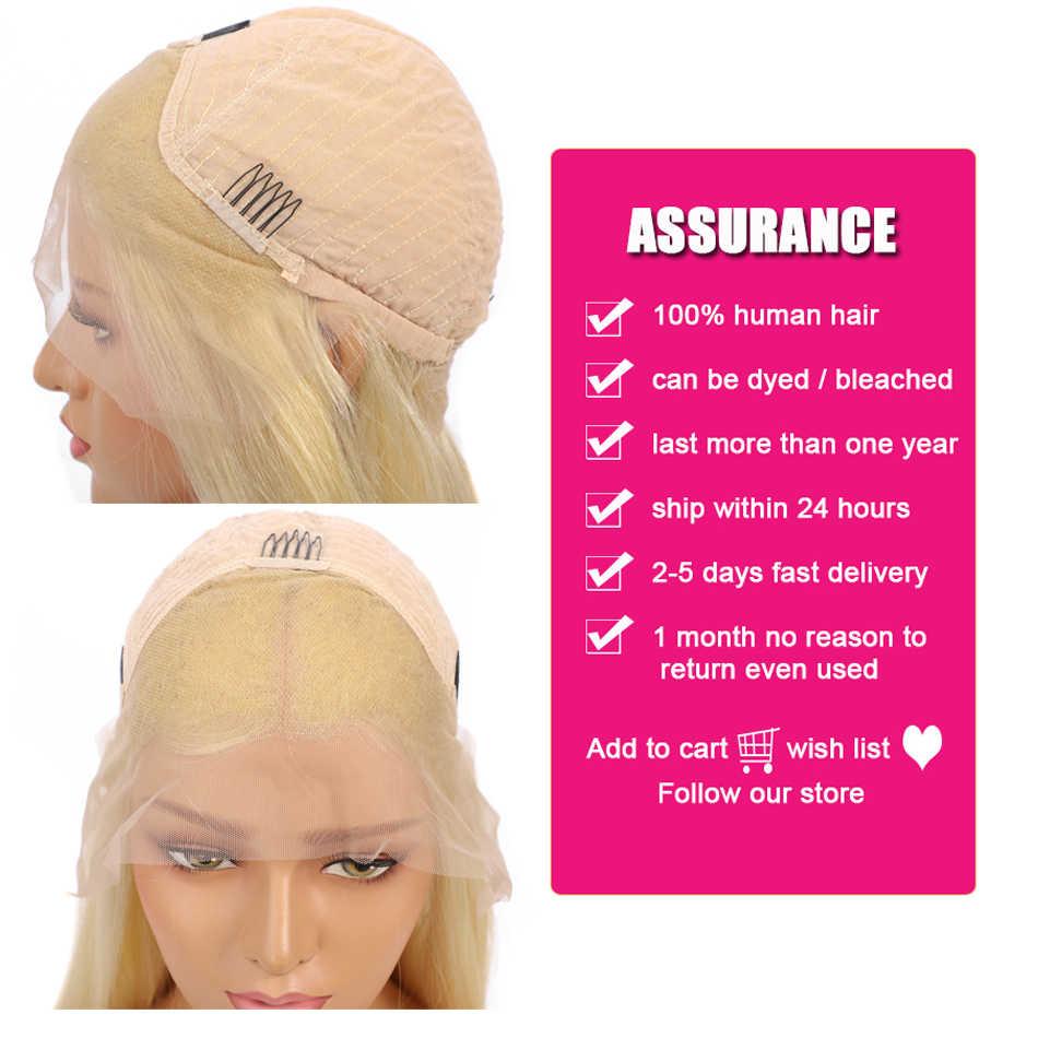 613 blonde en 1B natuurlijke zwarte bob pruiken kant frontale remy menselijk haar pruiken korte gebleekte knopen lijmloze bob pruiken