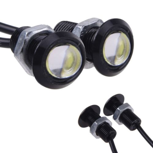 2шт 23ММ LED орлиный глаз света дневные ходовые DRL хвост Резервный свет двигателя автомобиля