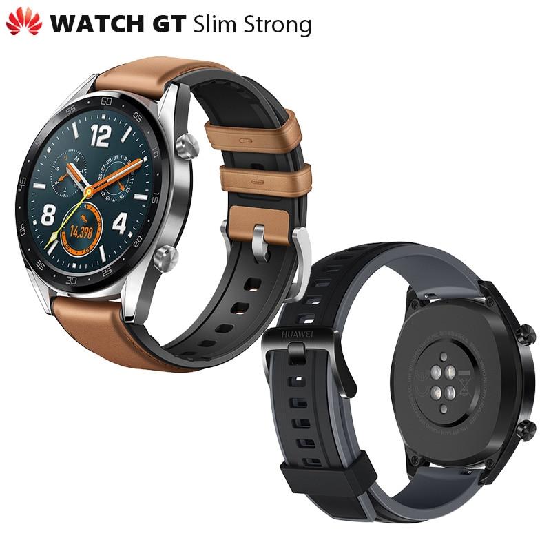 8455.92руб. 34% СКИДКА|Оригинальные часы Huawei GT, уличные Смарт часы, очень долгий срок службы батареи, GPS, научный тренер Amoled, цветной Retina 1,39