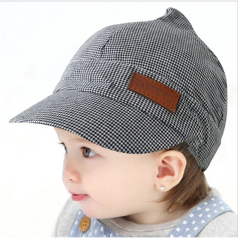 XCQGH Desain Inggris Style Anak Mode Topi Bayi Laki laki Topi Kotak kotak  musim panas Baret ea614dd427