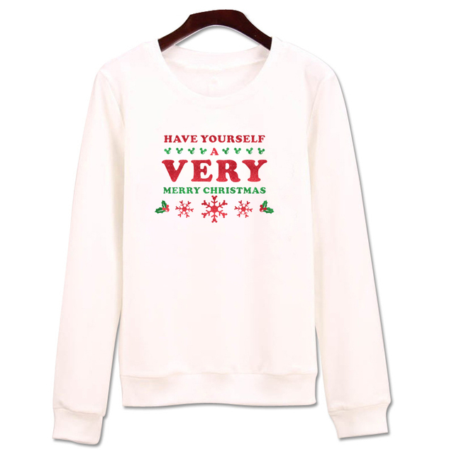 male sweatshirt happy yourself a very merry christmas letters jumpers printed hoodies men oversized long sleeve - Have Yourself A Very Merry Christmas
