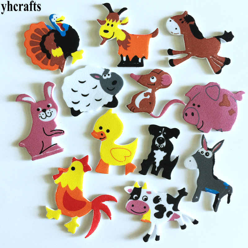 1bag/Lot.Farm animal foam stickers 15 design Scrapbooking kit.Early educational toys kindergarten arts crafts toys WholesaleOEM