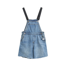 Summer Women Strap short Overalls Denim Jumpsuit light blue Casual Fashion Lady Backless Female dungarees jeans Rompers