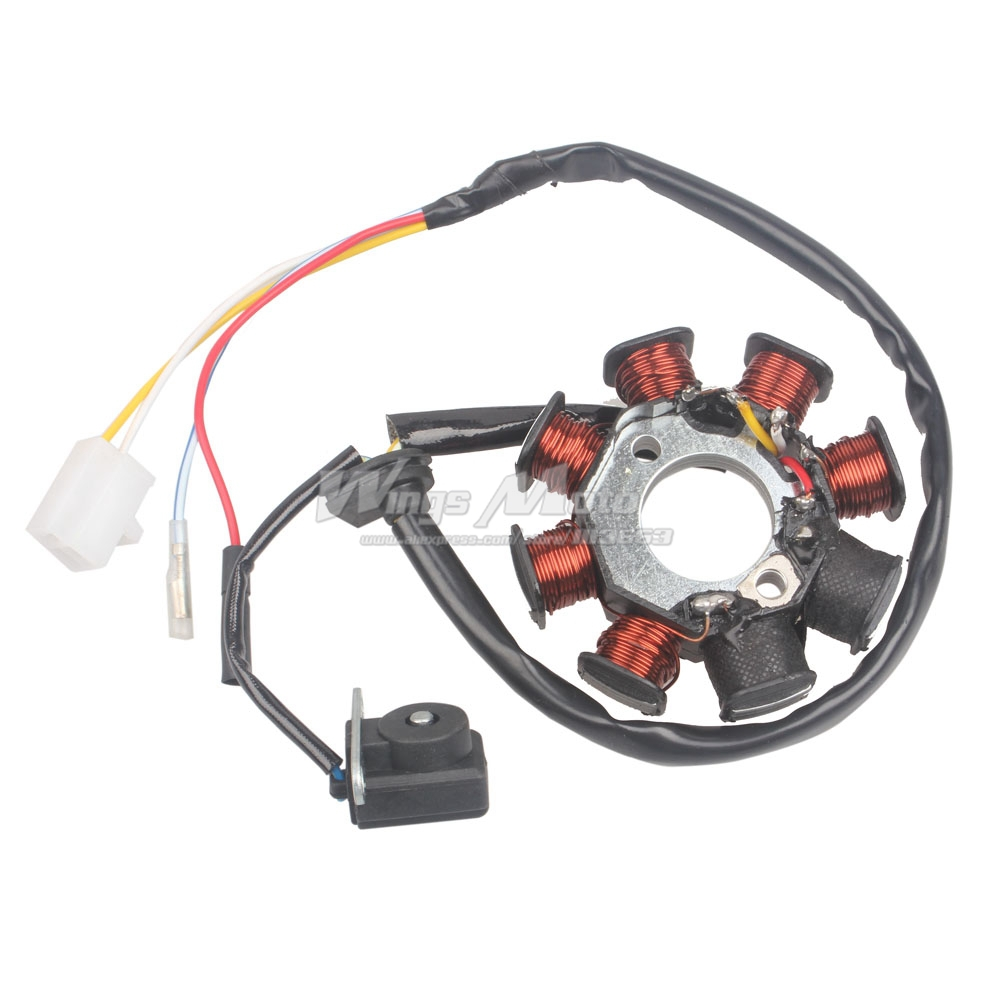 ignition stator magneto 8 coil 4 wires gy6 50 110 150cc