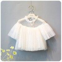 Kore 2016 Ilkbahar Yaz Yeni Stil Kız Moda Tatlı Peri Fanwangsha Prenses Bir Bebek Çizgisiz üst giysi Ceket Gömlek
