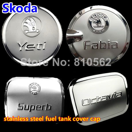 ,Skoda Yeti Octavia Fabia Superb Stainless Steel Fuel Cap Tank Cover cap sticker ,modification supplies Skoda - StevenSun's store