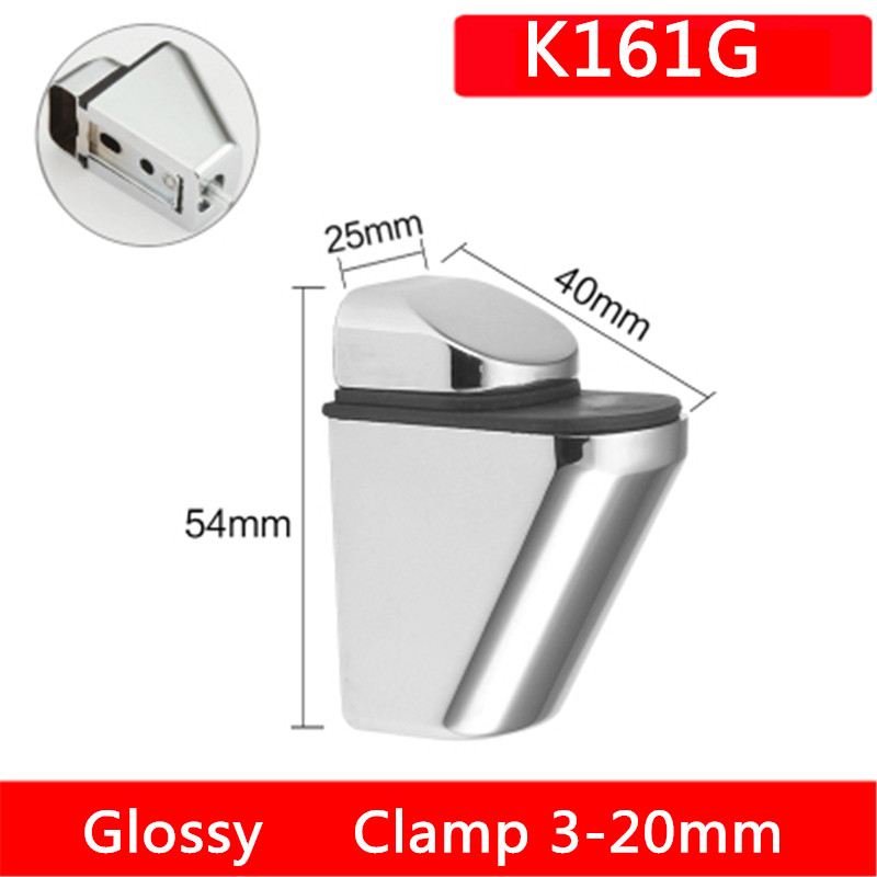 One pair K161G fish mouth style chrome finished Zinc Alloy Glass Clamps Shelves Support Bracket Clips For 3 to 20mm glass boardOne pair K161G fish mouth style chrome finished Zinc Alloy Glass Clamps Shelves Support Bracket Clips For 3 to 20mm glass board