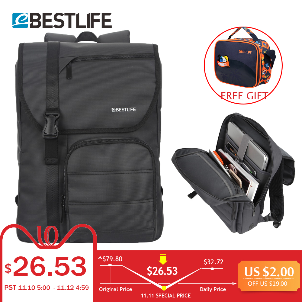 BESTLIFE Men Backpack Multifunctional Nylon Business Laptop Daypack Waterproof Male Travel Backpacks Bags Mochila Masculinal new men business waterproof travel backpack women fashion college schoolbag male leisure nylon 15 6inch laptop notebook bags