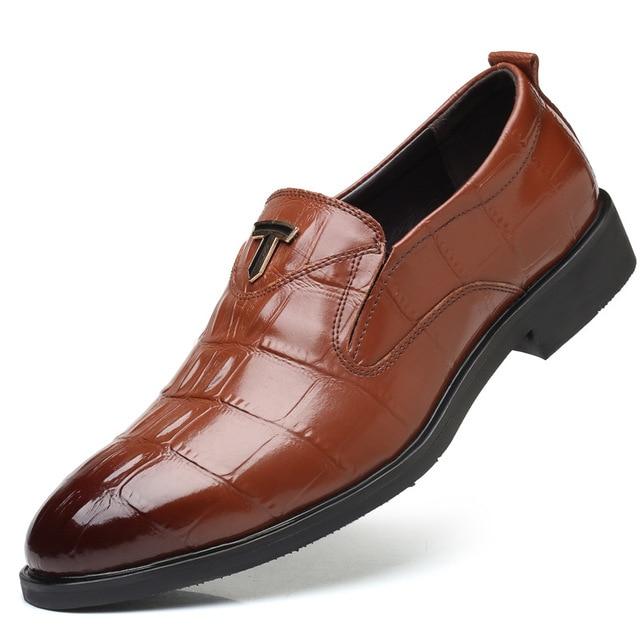 brand new a71af a172d DBTX Italienische Mode lässig Handgemachten männer Krokodil Leder Schuhe  Business Kleid Anzug Männer Schuh Zapatos Mujer Beste Geschenke 635