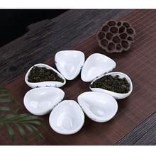 Chinese ceramic Tea scoop bule and white ceramic Tea spoon lotus leaf shape Beautiful Traditional underglaze blue Tea Set Scoop