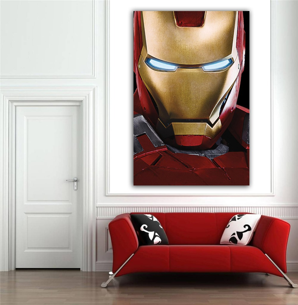 Marvels Avangers Ironman Poster Sticker Wall Decorations Living Room Of  Size 90x60cm 36X24 Painting Cheap