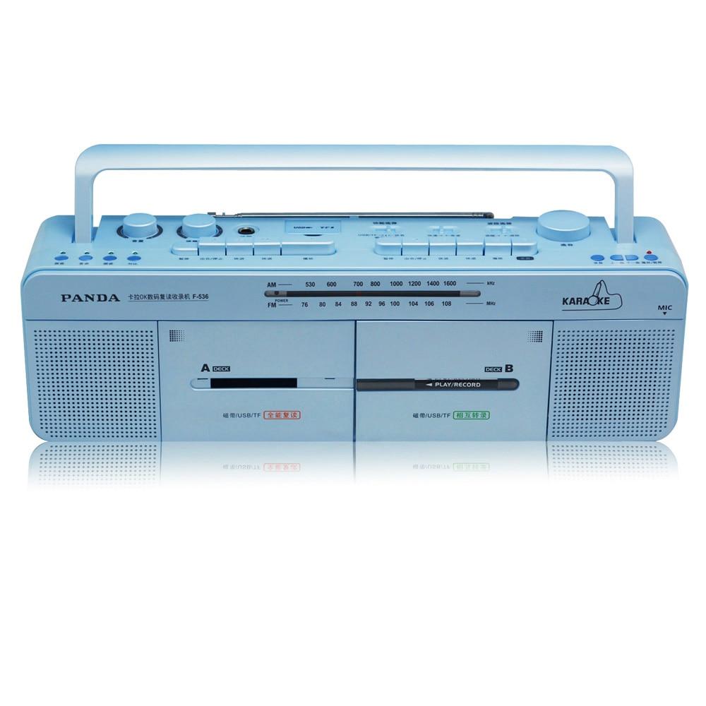 PANDA F 536 Recorders FM Radio Dual Card tape repeater u DISK MP3 play