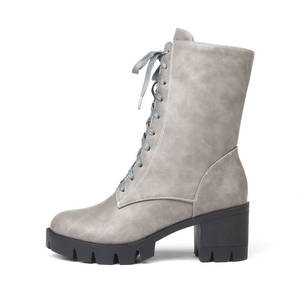 Image 4 - MORAZORA 2020 new style ankle boots for women round toe autumn winter boots zipper lace up platform boots punk shoes woman