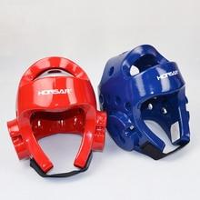 Тхэквондо шлем Новая Бокс Тхэквондо Головные уборы главный Страж Шлем протектор мягкая удобная голову протектор NBR + PU
