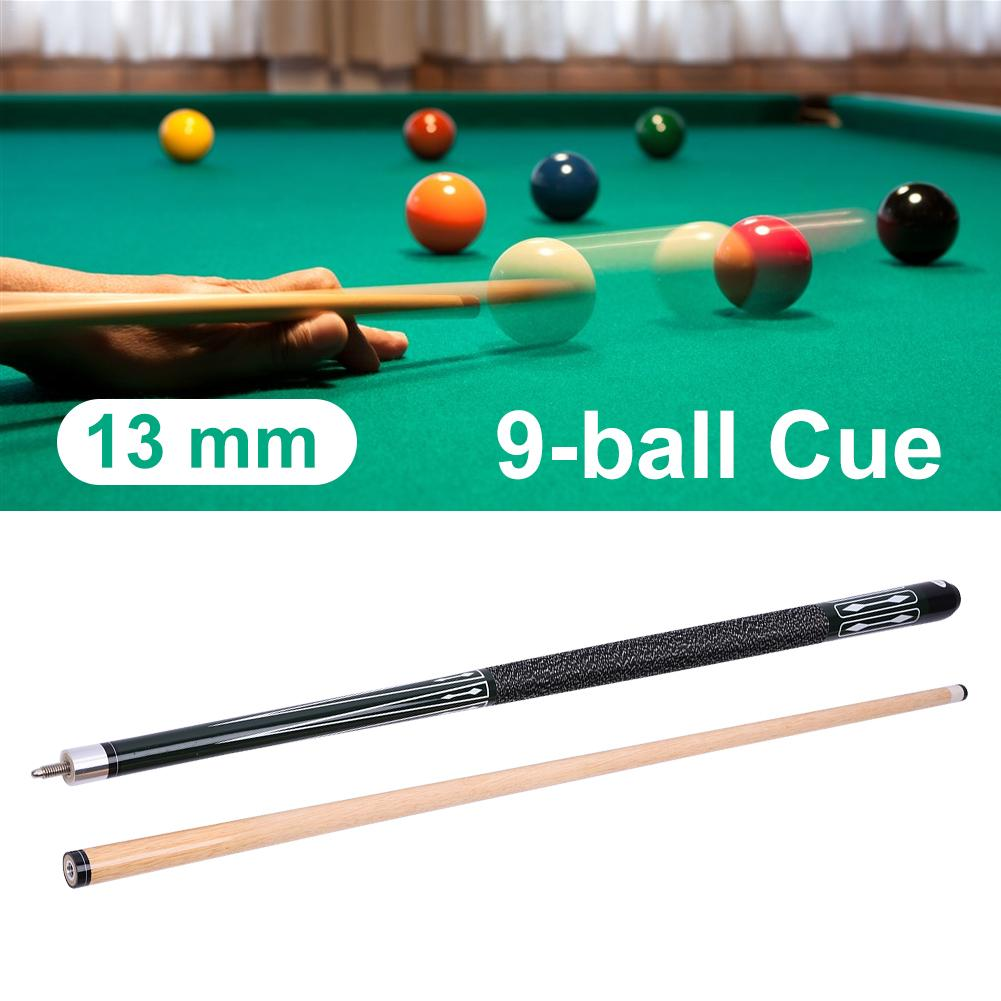 13MM Cue Tip  Green Hardwood Maple Billiard Pool Cue Stick