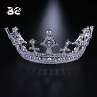 Be 8 Big Tiaras and Crown for Bridal AAA CZ Pave Engagement Headband Hair Accessories for Party Gifts coroa de noiva H142