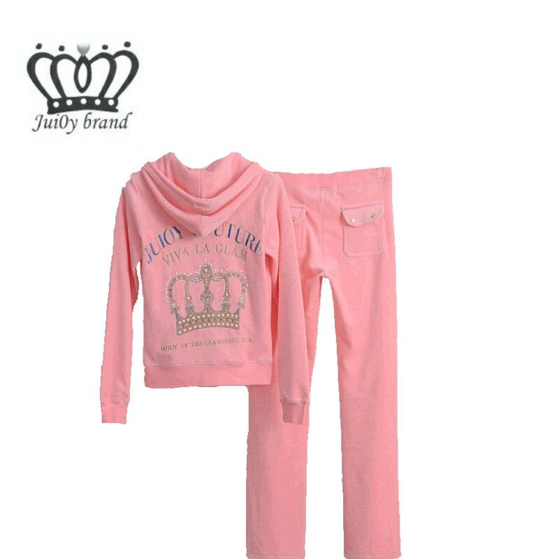 Spring / Autumn / 2018 Womens Brand Tracksuit Velvet Cloth Womens Suit Velor Tracksuit Sweatshirts & Pants size S-XXL