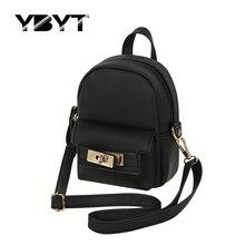 YBYT marque 2017 nouveau mini solide simple et mode sac à dos de haute qualité femmes shopping paquet dames preppy style sacs à dos