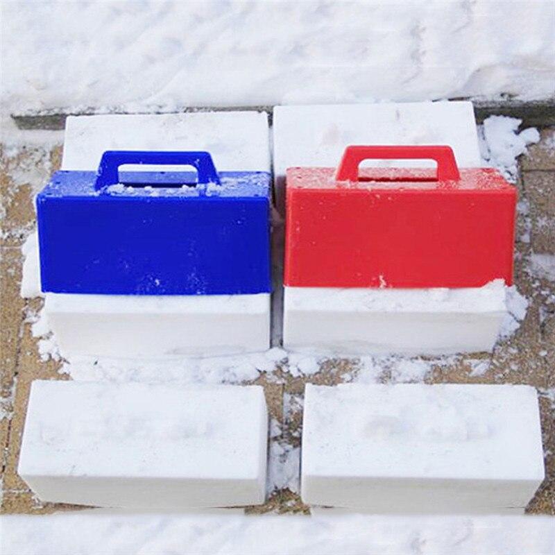 Niños divertidos niños nieve esquí juego Snow Building modelo nieve ladrillos moldeo herramienta juguete al aire libre 1 unid color al azar