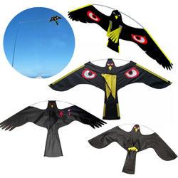 Emulação preto pássaro repelente falcão voando kite scarer pássaro repelente pombo inseto controle de pragas para espantalho jardim
