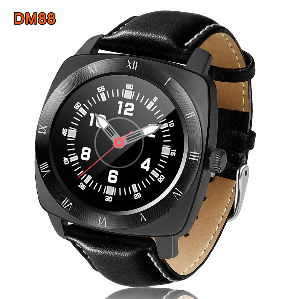 DM88 Smart Watch MTK2502C 128MB 64MB Bluetooth wrist Watches Heart Rate sleep Monitor pedometer For Androld