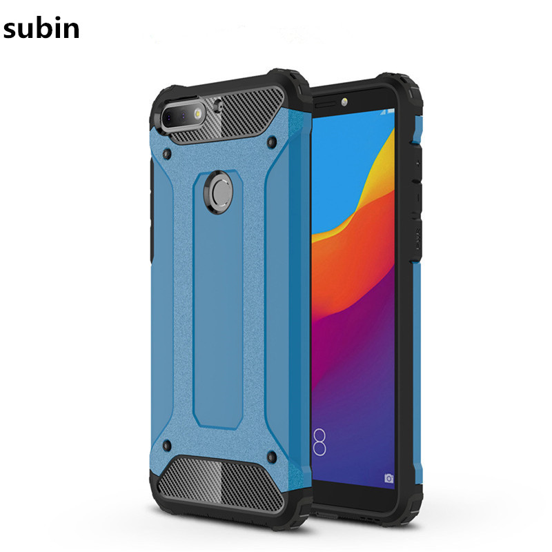 For Huawei Y7 Prime 2018 case cover funda New Luxury Shockproof bumper protect Y7 Prime 2018 smartphone case back cover coque
