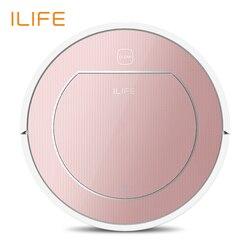 ILIFE V7s Pro,горячие продажа 2 в 1 , умный пылесос-робот, 450мл большой резервуар для воды, сухая+влажная уборка,интеллектуально переключать,автомат...