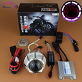 Motorcycle Headlight 2.3 CCFL Angel Eye Halo Demon Evil Eye Hid Bixenon Projector Lens Light Kit Headlamp Motorcycle Accessories