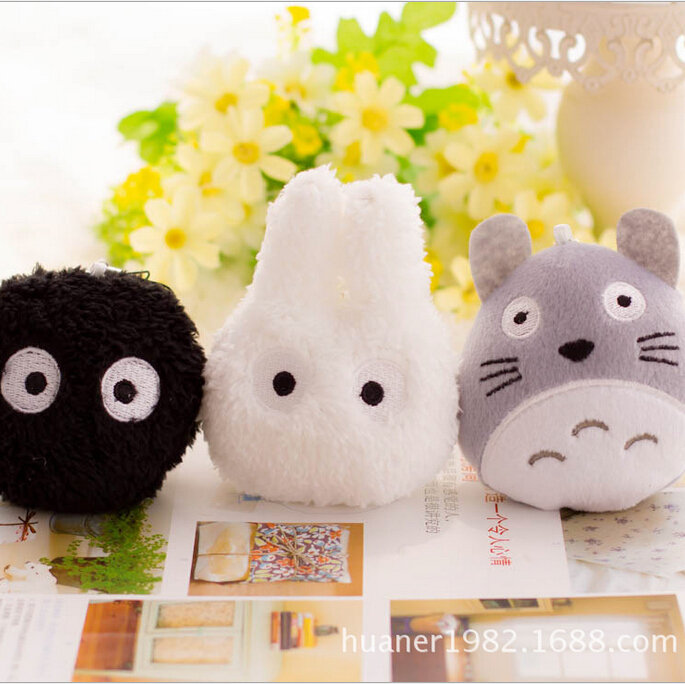 2018 New Totoro Series Products Mix 1p/lot Mini Totoro Plush Black Briquettes Plush White TotoroPlush Baby Toy Kawaii Baby Toy