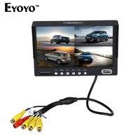 Eyoyo KJ 708 7 Inch HD TFT LCD Wired Car Monitors Split Quad Monitor 4 Channel