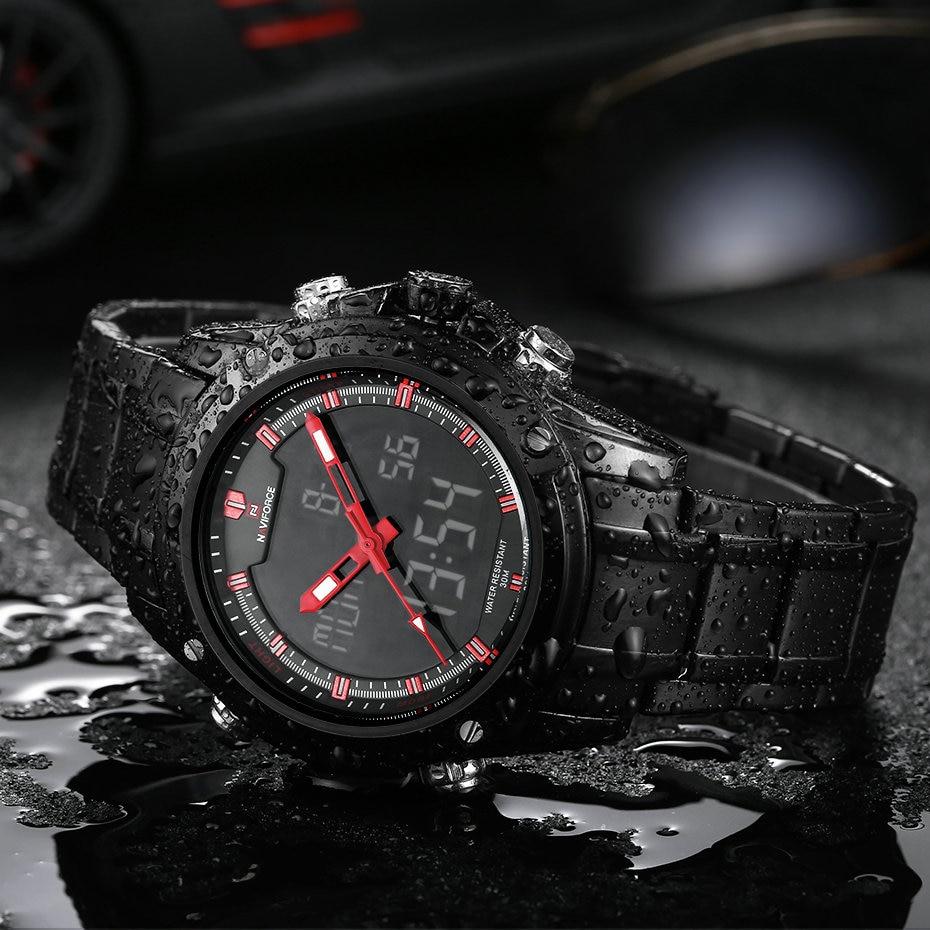 Top Luxury Brand NAVIFORCE Men Military Wodoodporny LED Zegarki - Męskie zegarki - Zdjęcie 5