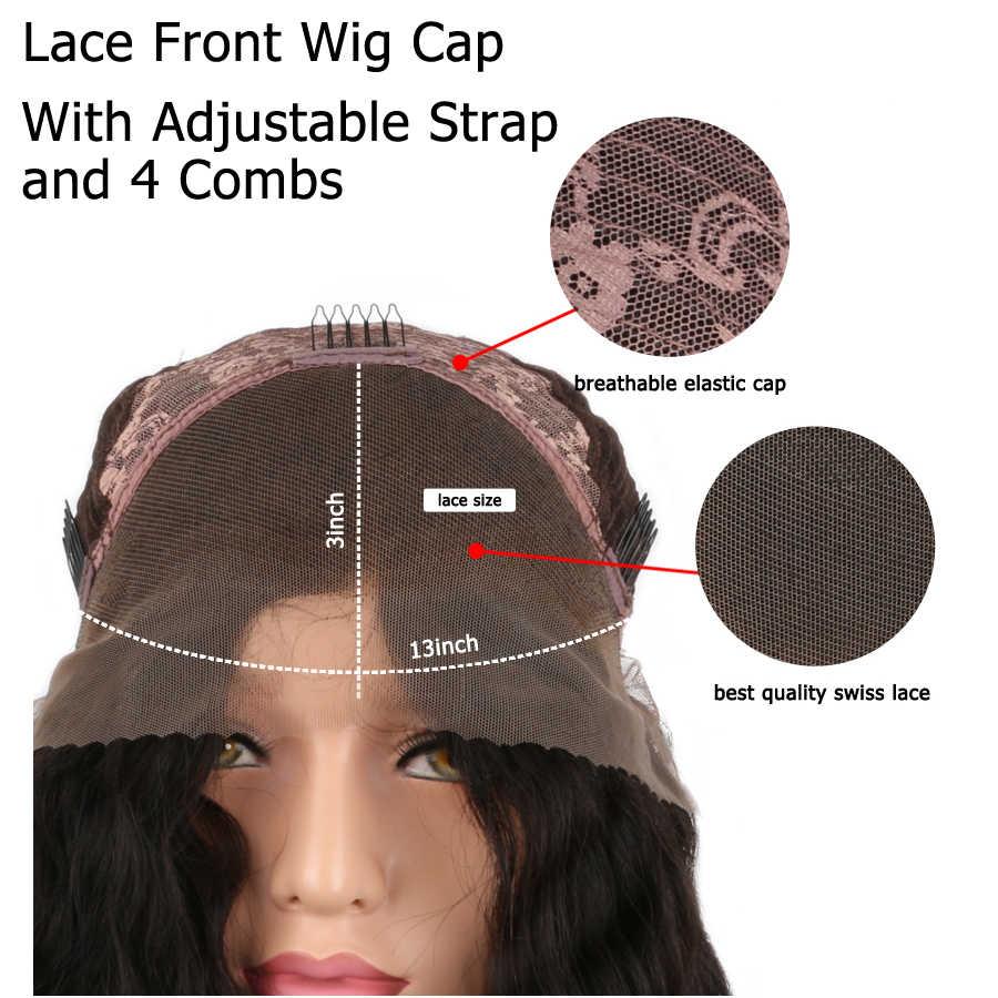 Sunnycan короткие бесклеевые парики из человеческих волос с челкой 130% парик из натуральных волос Волнистые предварительно сорванные бразильские парики на кружеве 13x4
