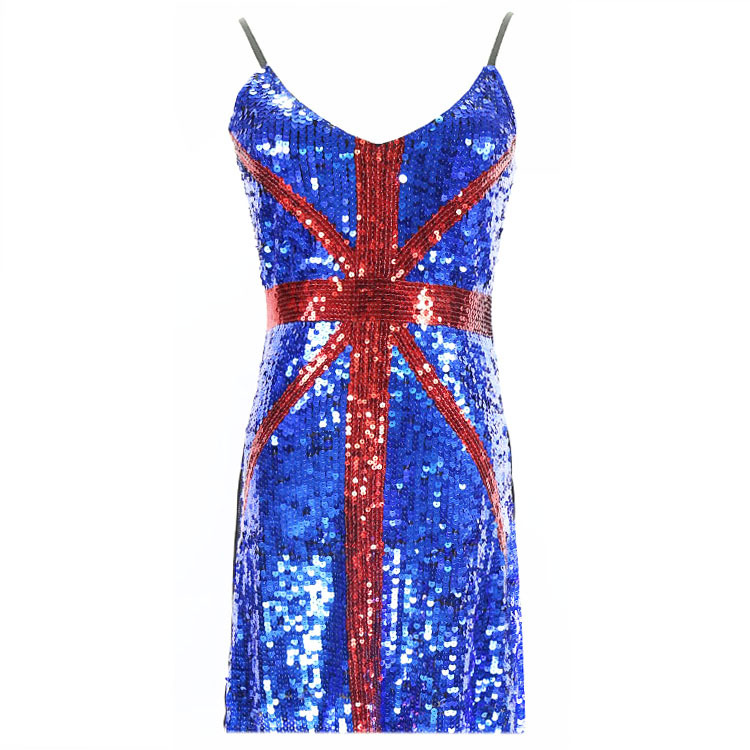 Popular Red Sequined Dress-Buy Cheap Red Sequined Dress lots from ...