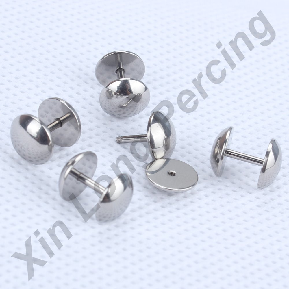 10pcs/lot 316L Surgical Steel Fake Ear Plugs 1.2*6*8mm Ear Cartilage Helix Tragus Stud body jewelry