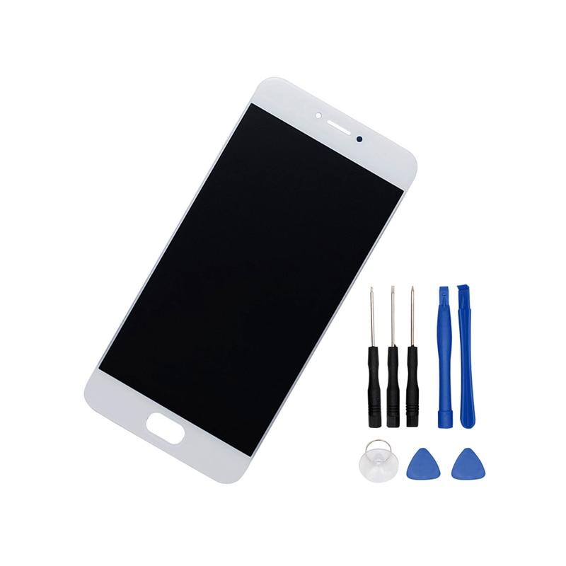 Teléfono lcd para MEIZU Sparparts MX6 Pro Display + Touch Screen Reemplazo Digitalizador Asamblea