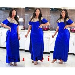 Afrikanische Riche große Elastische Party Stickerei Kleider Für Frauen Heißer Verkauf Dünne Sexy Frauen (HYXH #)