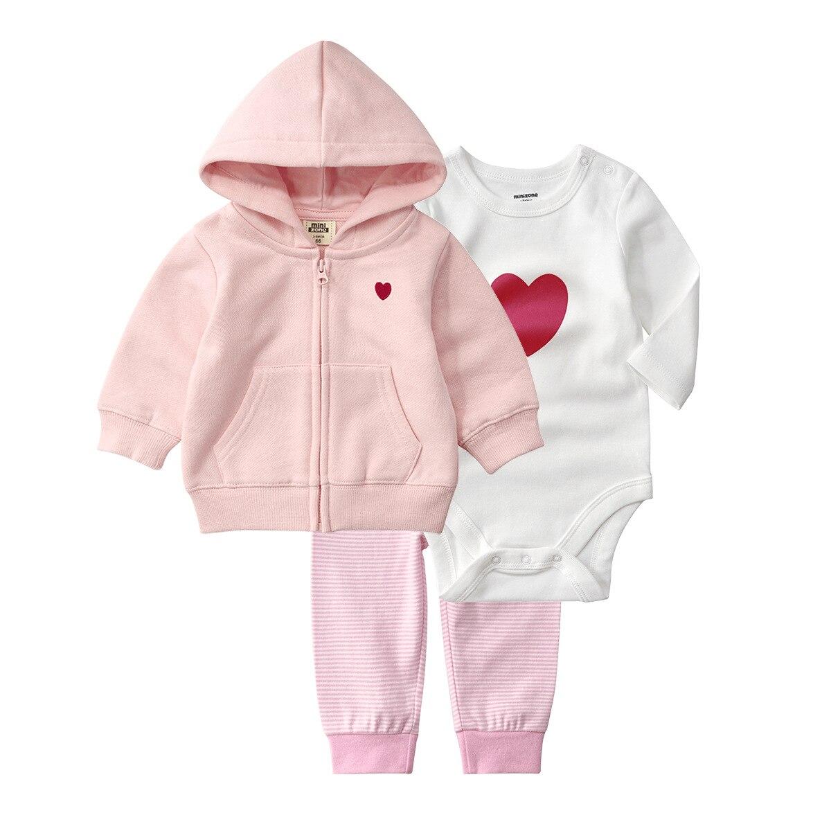 3pcs Hoodie+pants+bodysuits Children's Clothing Sets Autumn Boy Sports And Casuals Newborn baby clothes Soft Girls Cotton Sets