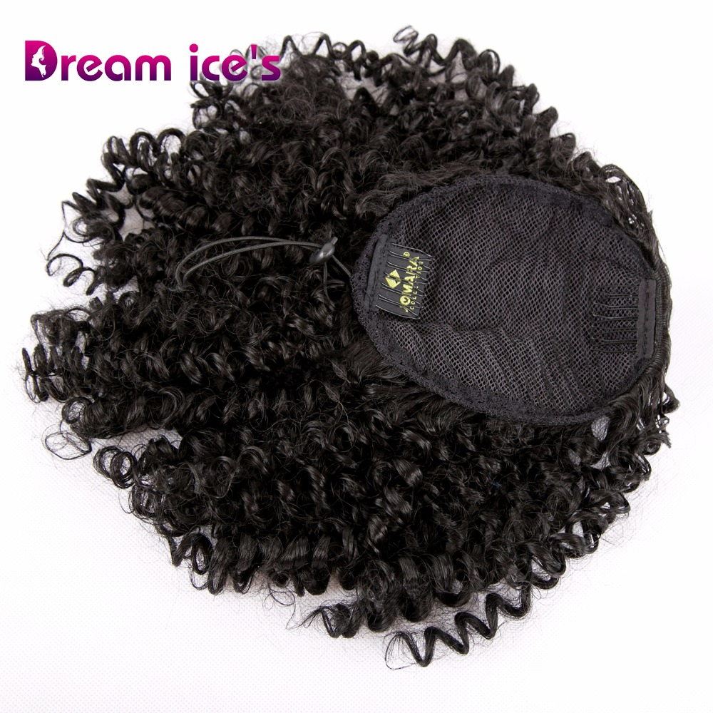 Sonho gelo longo sintético kinky cabelo encaracolado