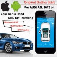 IOS Android оригинальный кнопка запуска GPS GSM автосигнализации для Audi A6L VW Kia Hyundai Toyota Nissan Canbus Bluetooth ПКЕ OBD