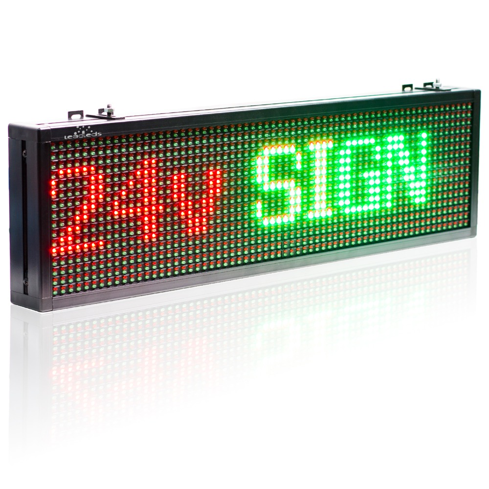 24v Truck Bus Car Bluetooth Remote Control Led Sign Red Green Yellow 3 – color Text Display board Moving Message Panel