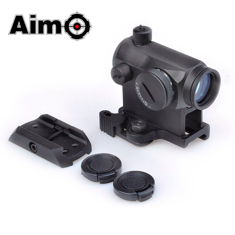 Aim O Tactical Scope T1 Red Green Dot With QD Mount Low Mount Riflescope Softair Colimador