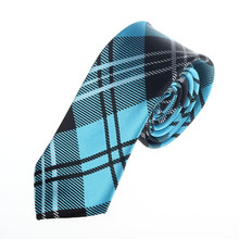 2018 New Fashion Men Plaid Casual Neck Tie Slim Mens Skinny Narrow Neck Party Wedding Tie Necktie gravata necktie ties for men(China)