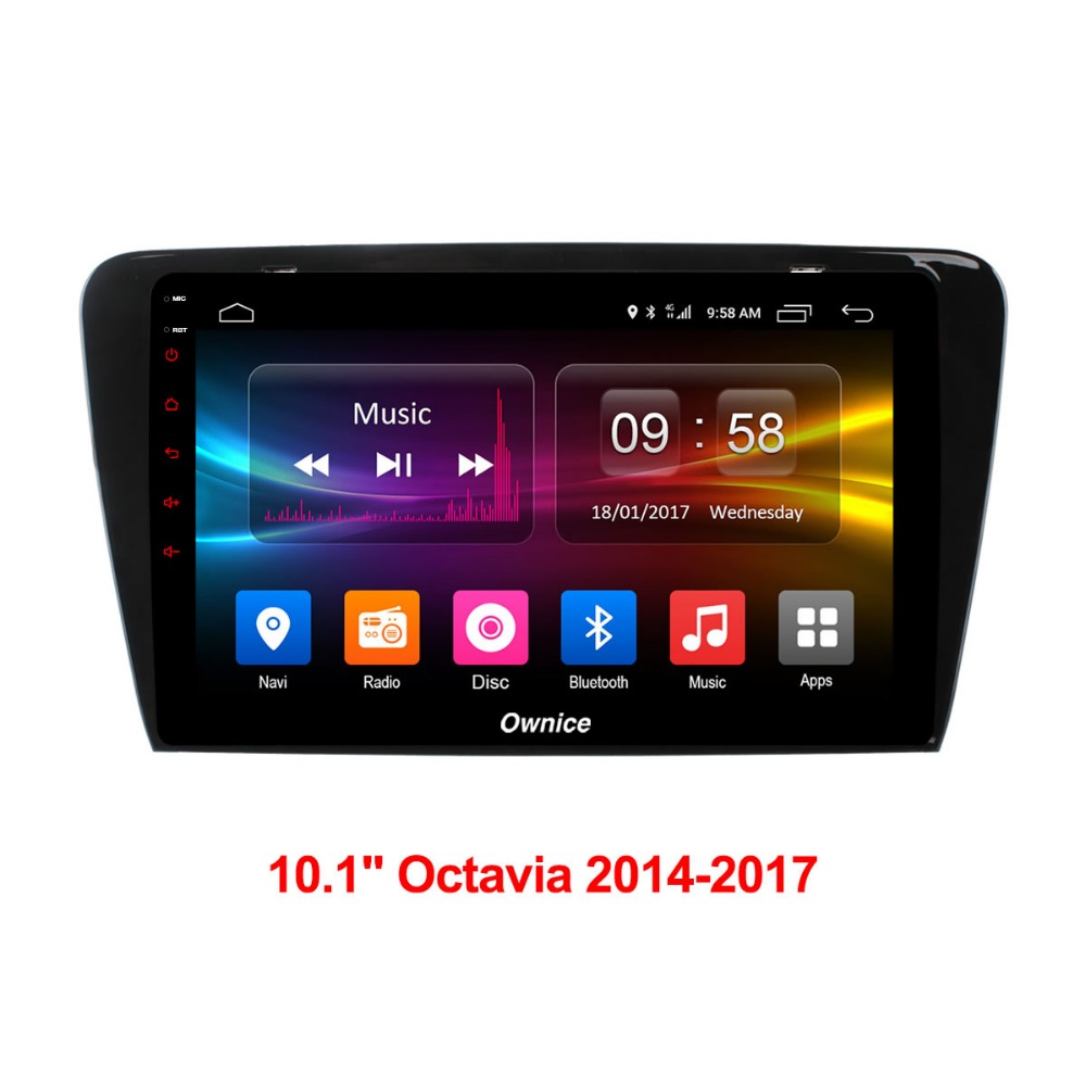 For Skoda Octavia 2014 2015 2016 2017 Vehicle GPS Navigation Radio Stereo Android Multimedia Player font