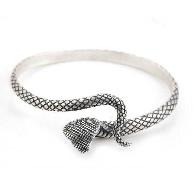 925 bracelets en argent Sterling forme de serpent torsadé amour affinité rencontre le Style européen pour les femmes bijoux