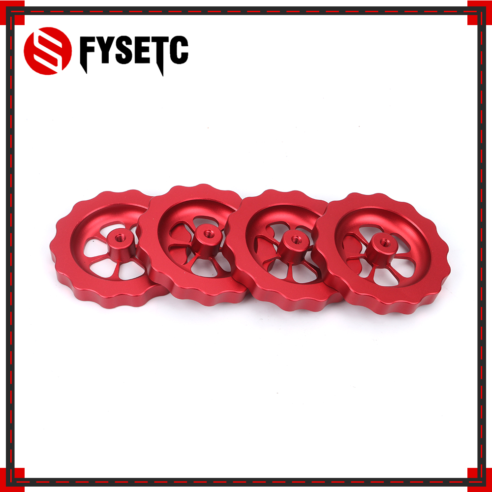 1PC 3D Printer Parts Big Hand Twist Knob Leveler M4 Thread Leveling Nut Red All Metal For Creality CR-10 3D Printer