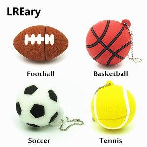 Image 1 - Clé USB de sport, 4 go, 8 go, 16 go, 32 go, lecteur Flash usb pour dessins animés, pour football, basket ball, tennis, clé USB 2.0, cadeau