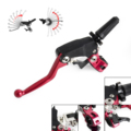 Forged Dirt Bikes Folding Clutch Lever Assembly Perch w/ Hot Start Lever For Honda CR CRF XL XR 125 150 250 400 450 650